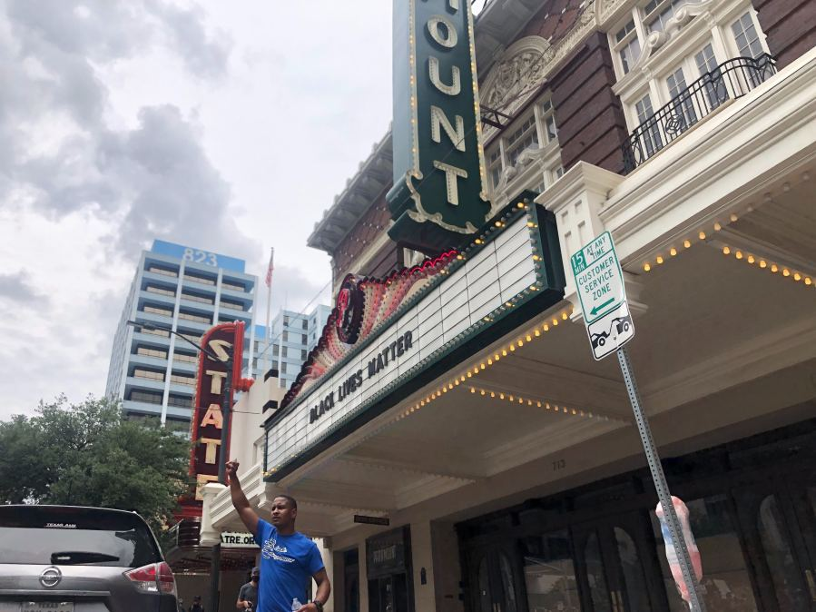 Protests near Paramount Theatre Austin 5-31-20
