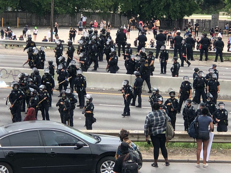 Protesters move onto I-35 5-31-20