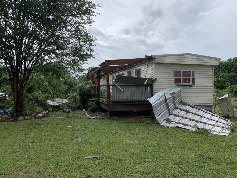 Storm damage in Smithville