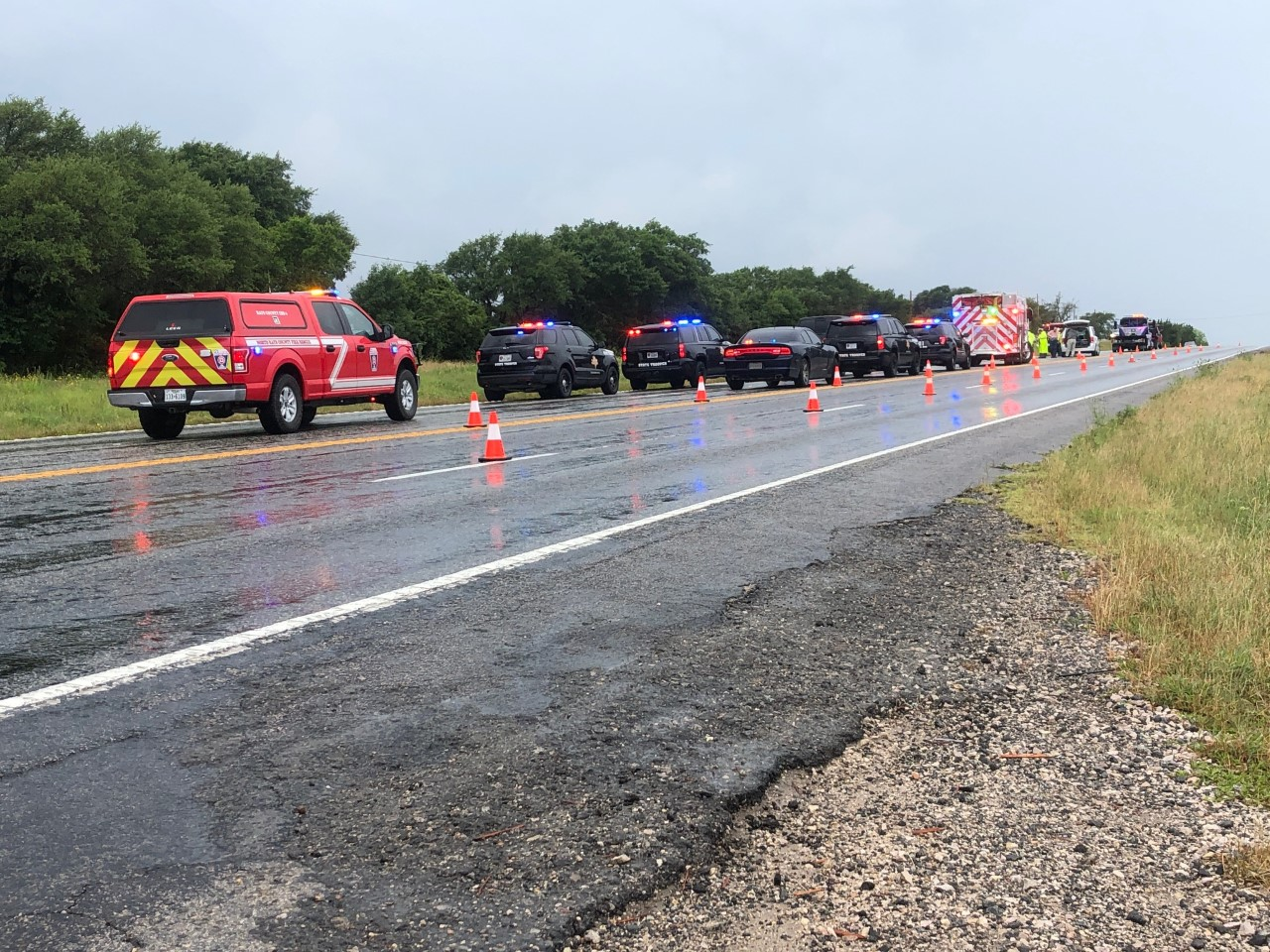 Fatal Hays County crash on US 290 (KXAN/Frank Martinez)