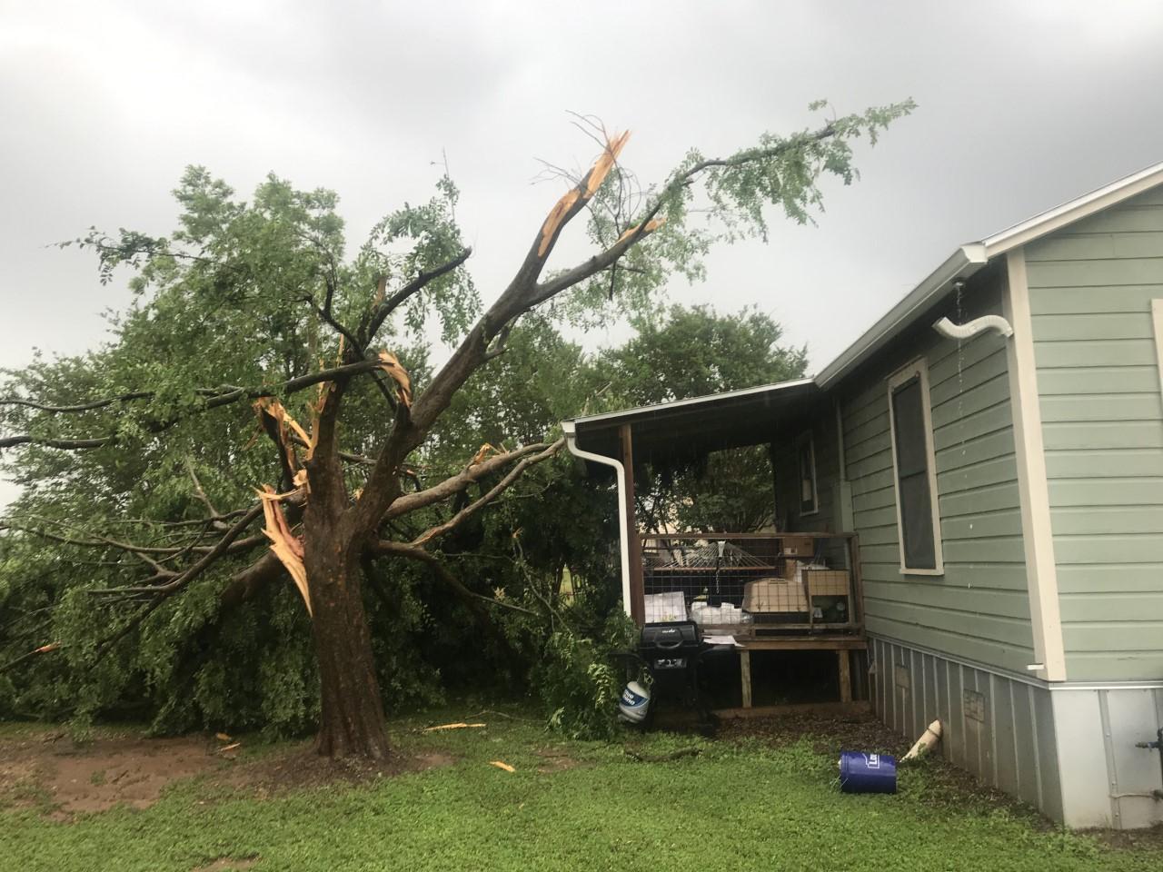 Tornado damage at a house in Smithville on Logan lane. (Courtesy Scott Saunders, Smithville Mayor)