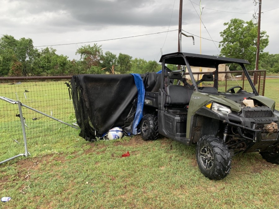 Severe storms ripped through Smithville Tuesday, May 12 (KXAN Photo/John Engel)