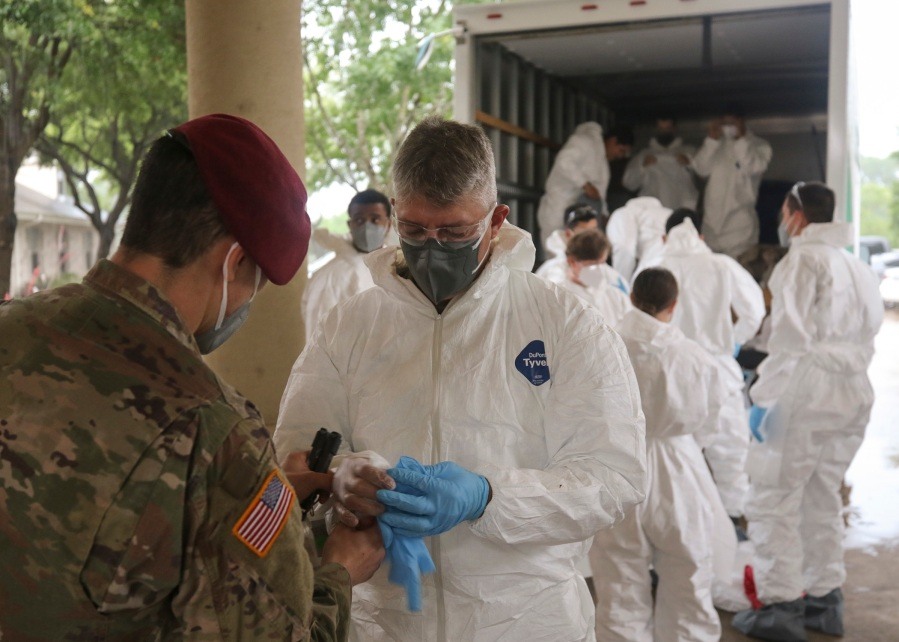 National Guard Soldiers begin nursing home disinfection mission