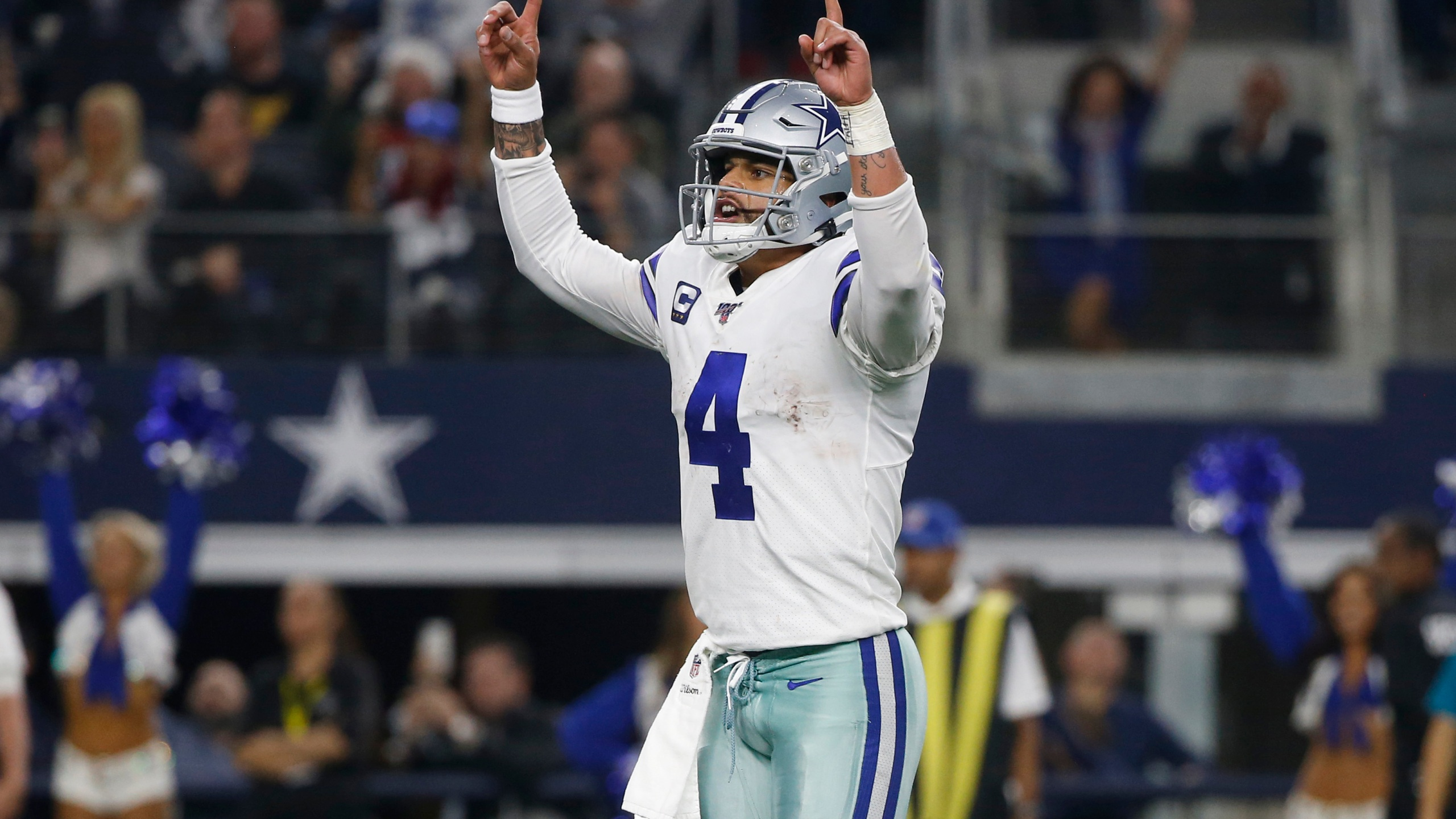 Dallas Cowboys Dak Prescott celebrates