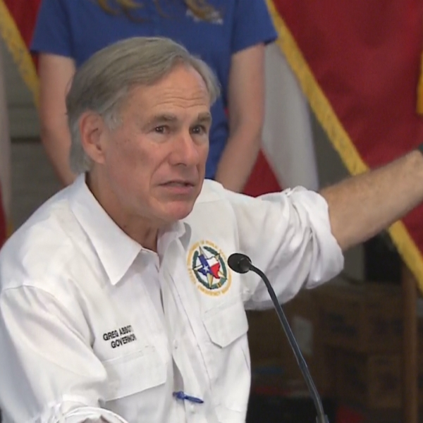 Gov. Greg Abbott at a press conference about coronavirus and storm preparations on June 5, 2020 (KXAN Photo)