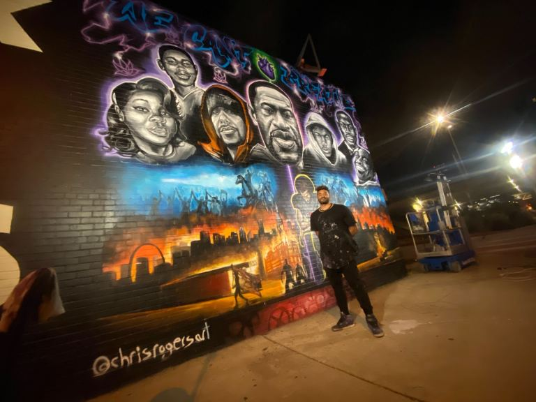 East Austin George Floyd mural nears completion; artist ...