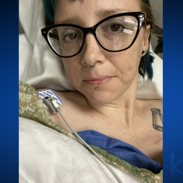 Jenny Lorraine shared a picture of herself when she was hospitalized for heart surgery in March. She's since been in isolation for 105 days after contracting COVID-19 (Courtesy Jenny Lorraine)