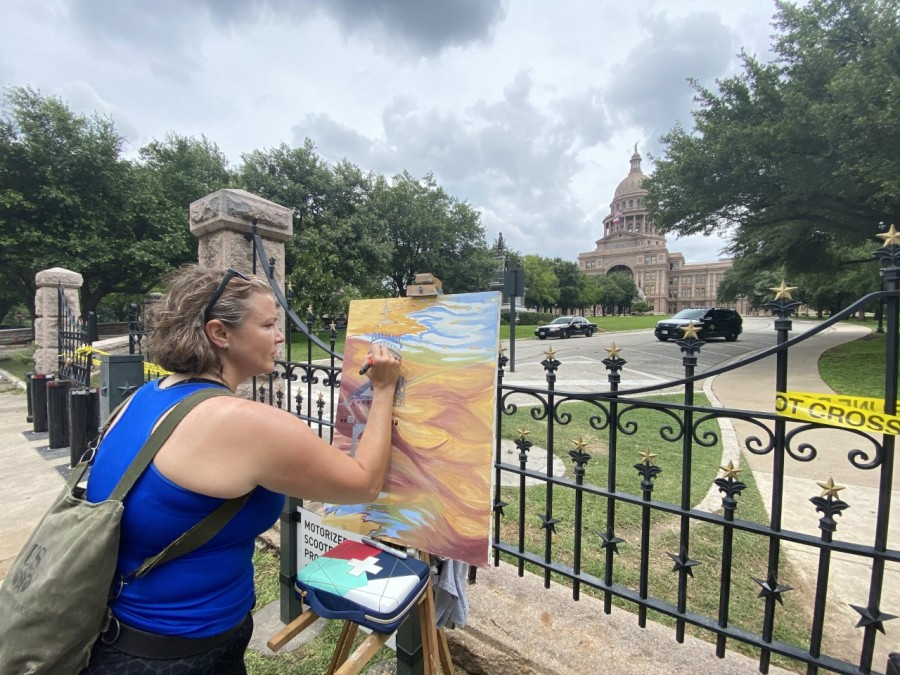 painting at capitol