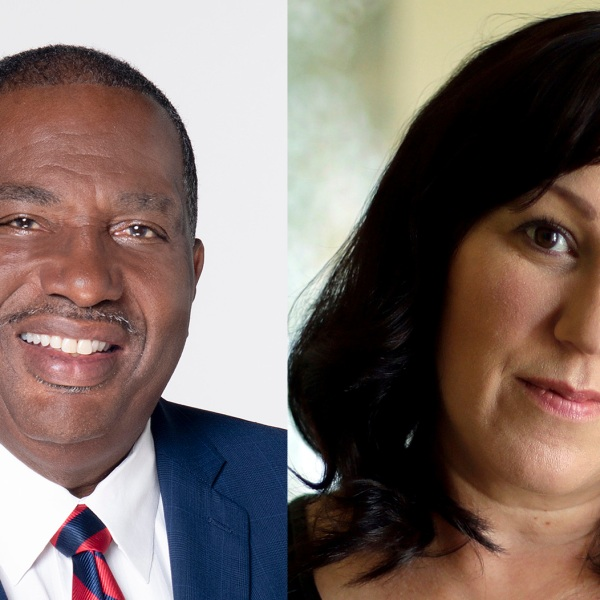 Royce West and M.J. Hegar (KXAN File and AP Photo/Eric Gay, File)