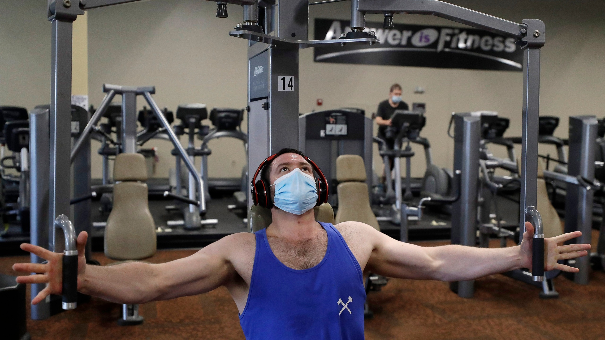 Eased capacity restrictions at Texas gyms