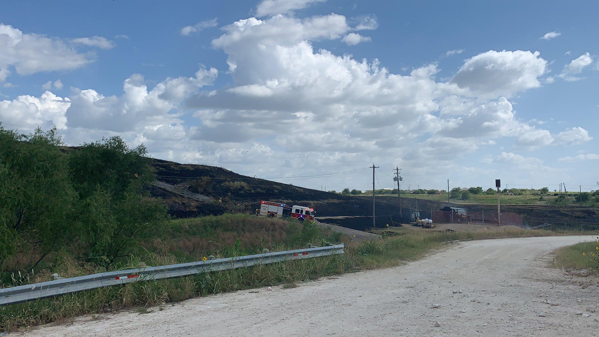 Brush fire landfill 7-19-20