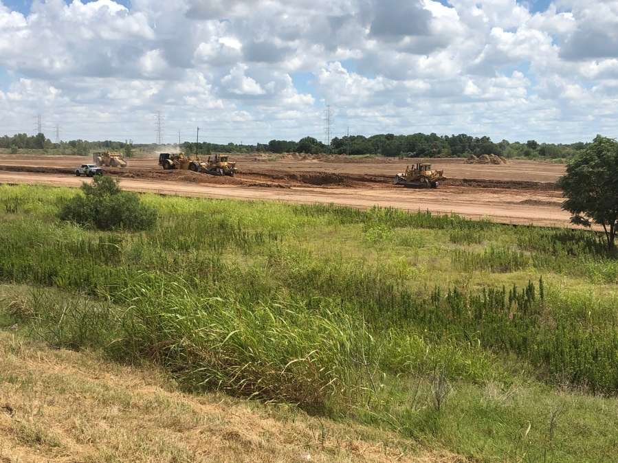 Construction begins at future Tesla site in Del Valle between SH 71 and Harold Green Road on SH 130 on July 23, 2020 (KXAN Photo/Frank Martinez)