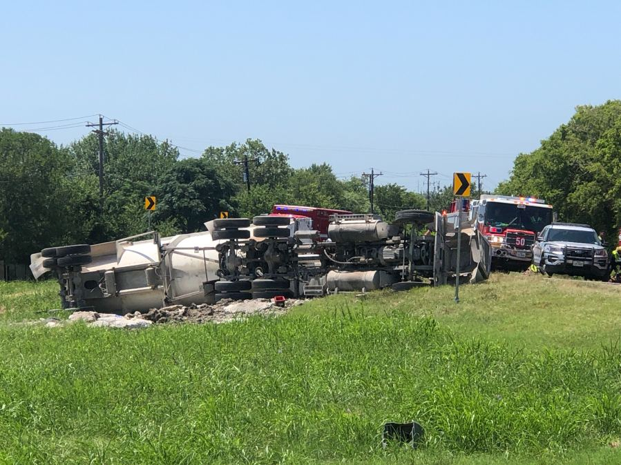 Person pinned after dump truck crash 7-13-20