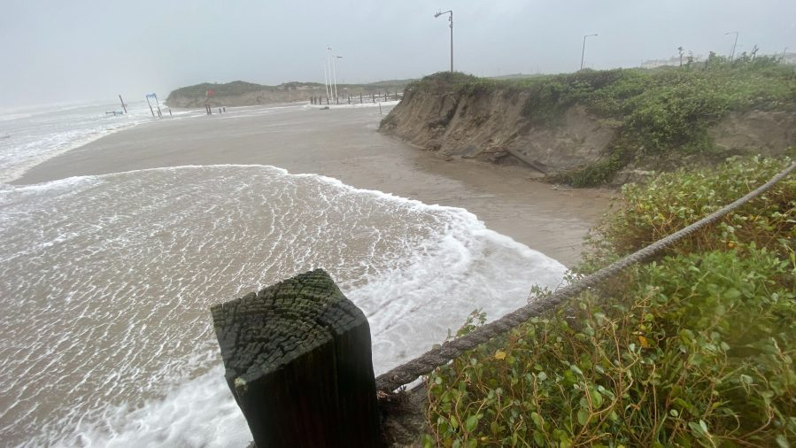 North Padre Island around landfall Hurricane Hanna