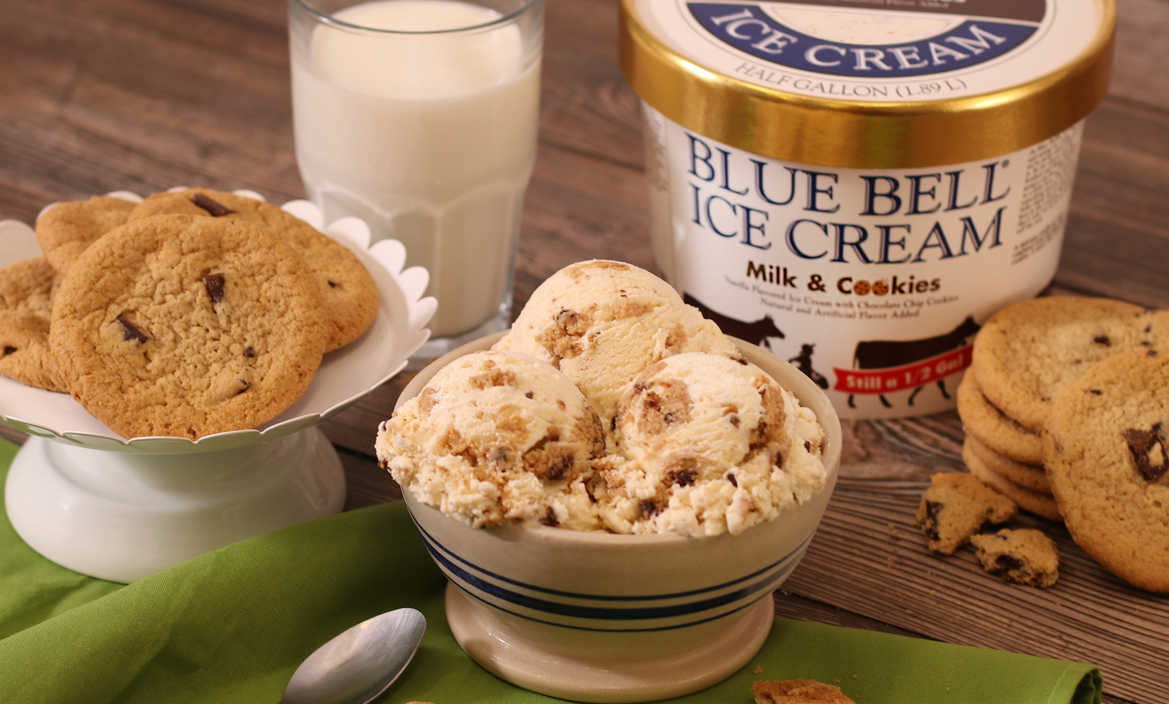 Blue Bell's Milk & Cookies flavor (Courtesy Blue Bell Creameries)