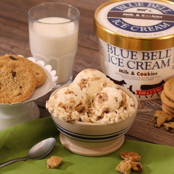 Blue Bell's Milk & Cookies flavor (Courtesy Blue Bell Creameries)