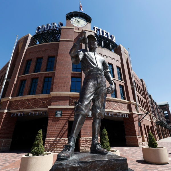 The Player statue, Coors Field, r m