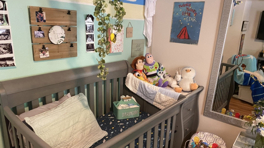 Savannah Hargett prepared a nursery for her child, even as she became sick with COVID-19 (Courtesy Savannah Hargett)