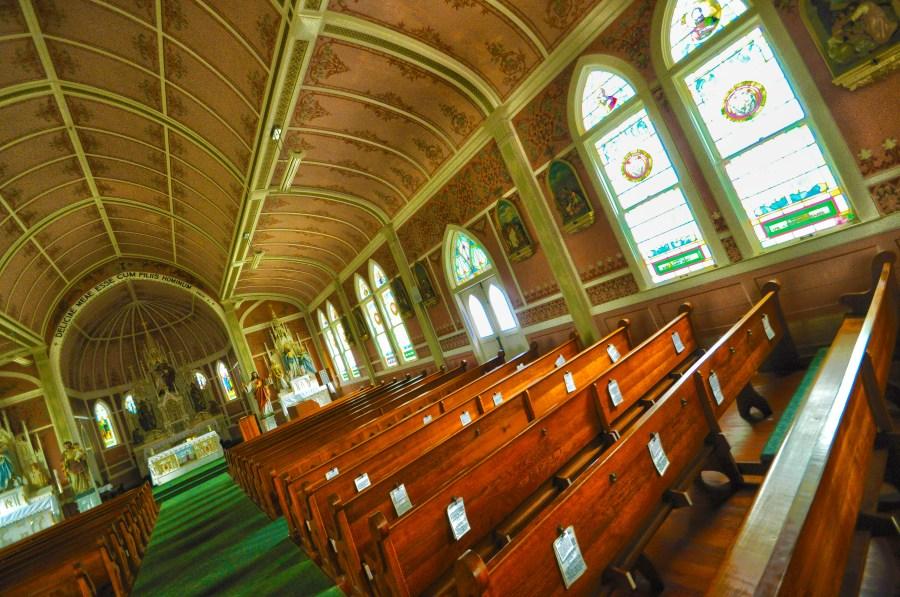 St. John the Baptist Catholic Church in Ammansville, Texas (KXAN Photo/Ben Friberg)