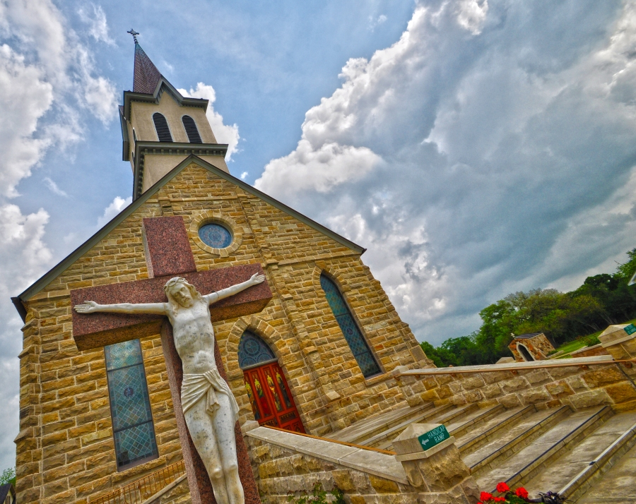 St. Mary's Catholic Church in Praha, Texas (KXAN Photo/Ben Friberg)