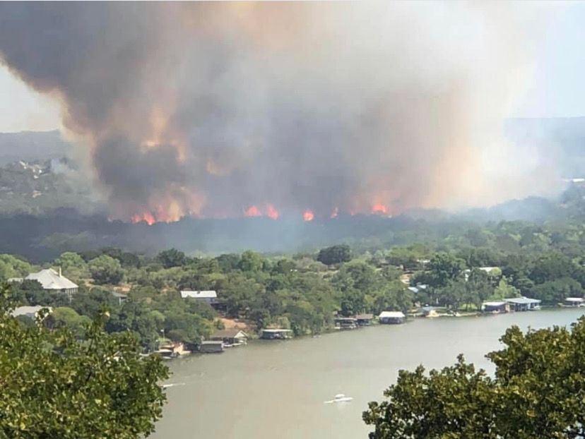 Horseshoe Bay brush fire (Courtesy Reed Norman)