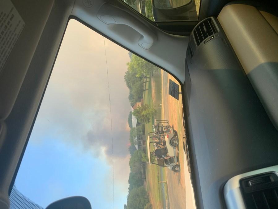 Fire in Horseshoe Bay (Courtesy Cody Levay)