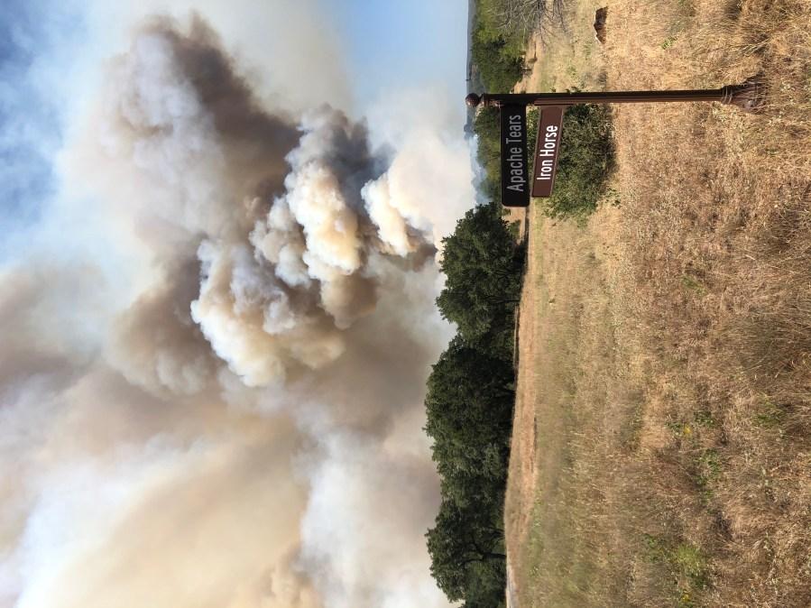 Fire in Horseshoe Bay (Courtesy Denise Hilsher)