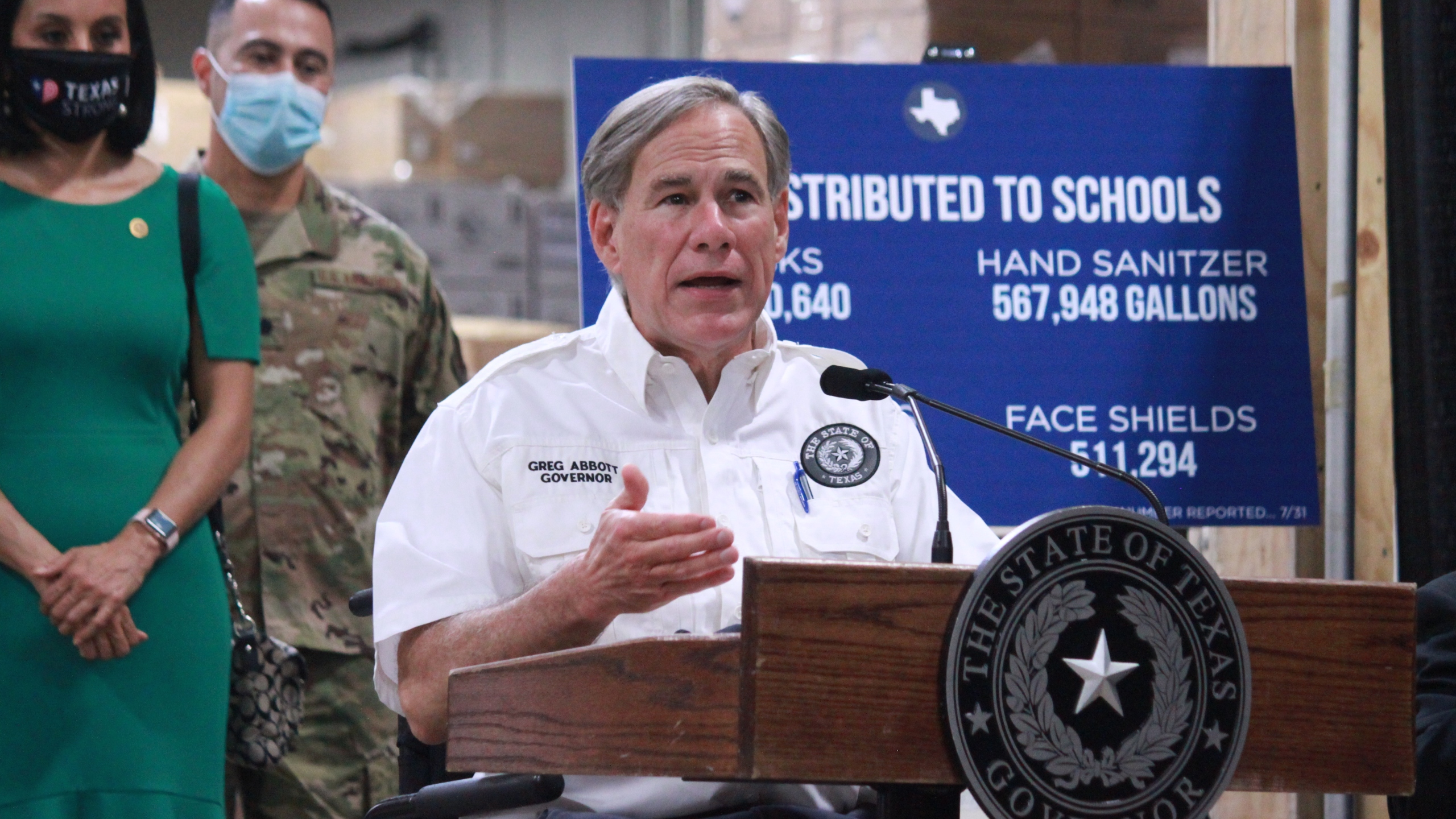 Gov. Greg Abbott TDEM PPE San Antonio Warehouse