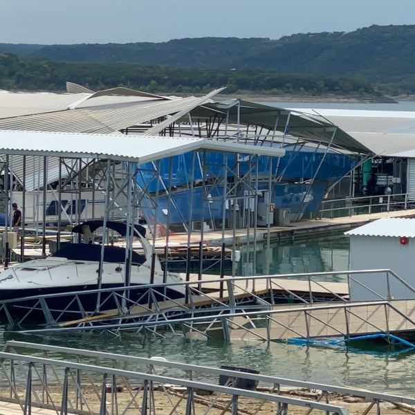 lake travis marina storm damage