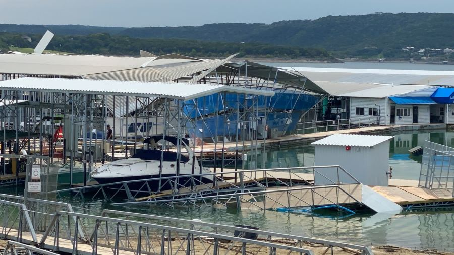 lake travis marina storm damage