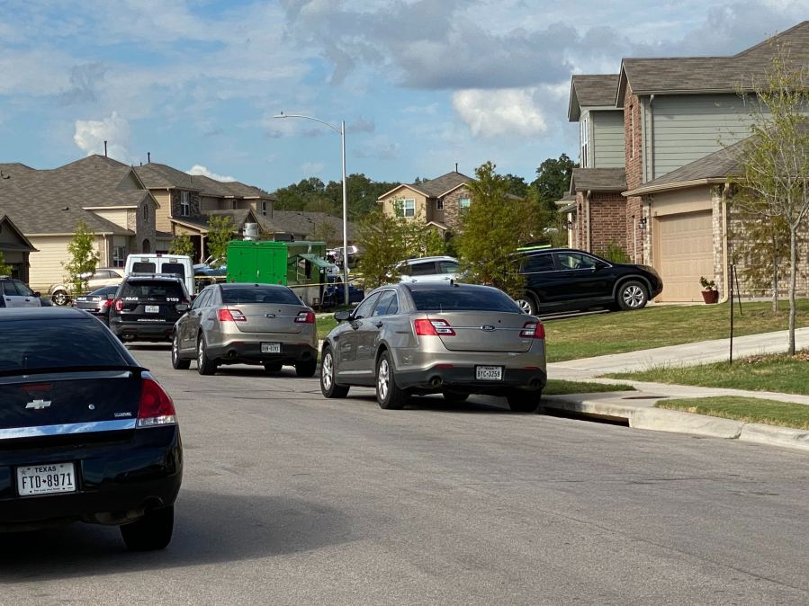 One man died and another was hurt in southeast Austin Aug. 26, 2020 (KXAN Photo/Todd Bynum)