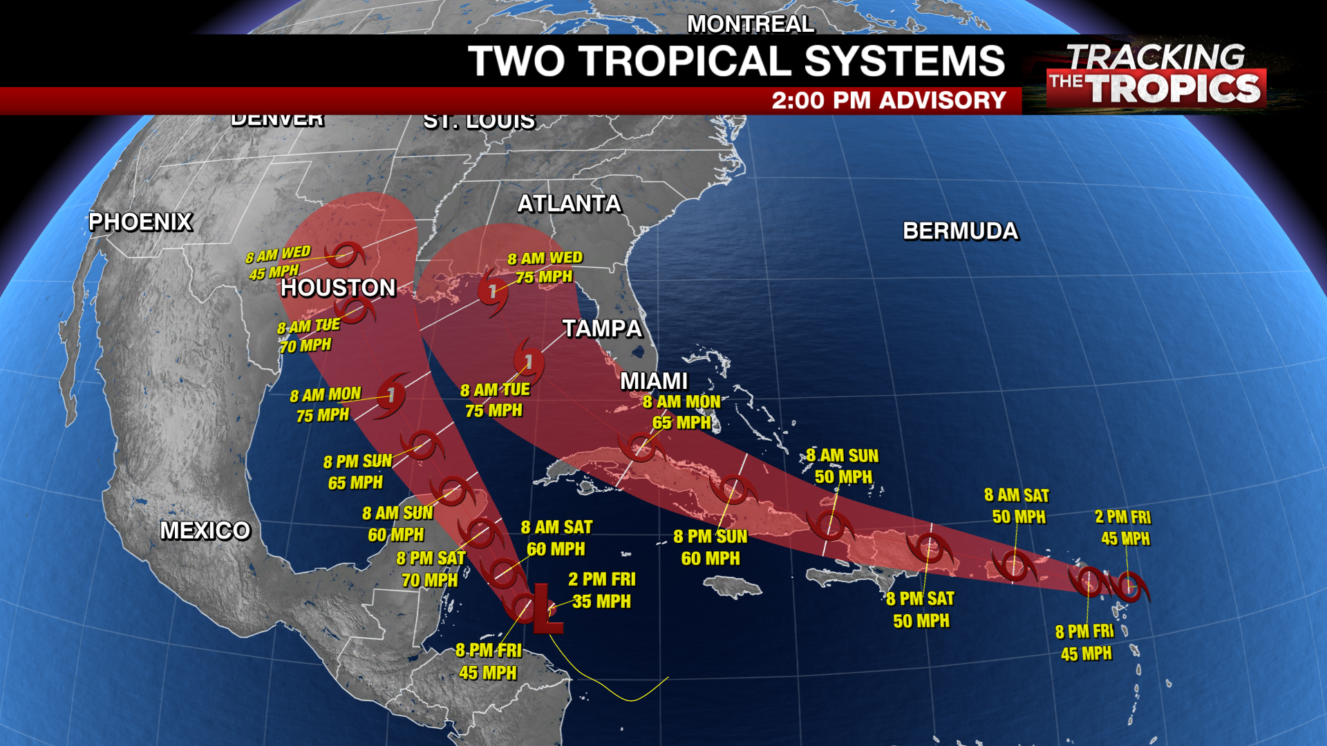 Tracking The Tropics Tropical Storm Laura S Track Shifts West Marco Expected To Form Soon Kxan Austin