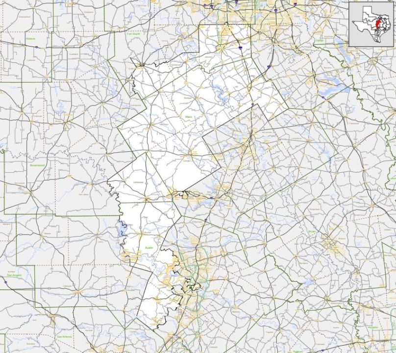 Texas Congressional District 25 (Texas Department of Transportation Photo)