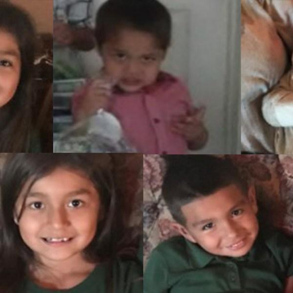 Justine Lopez, Jordan Lopez, Jayden Lopez, Jolyne Lopez and Ruben Lopez (Amber Alert Photo)