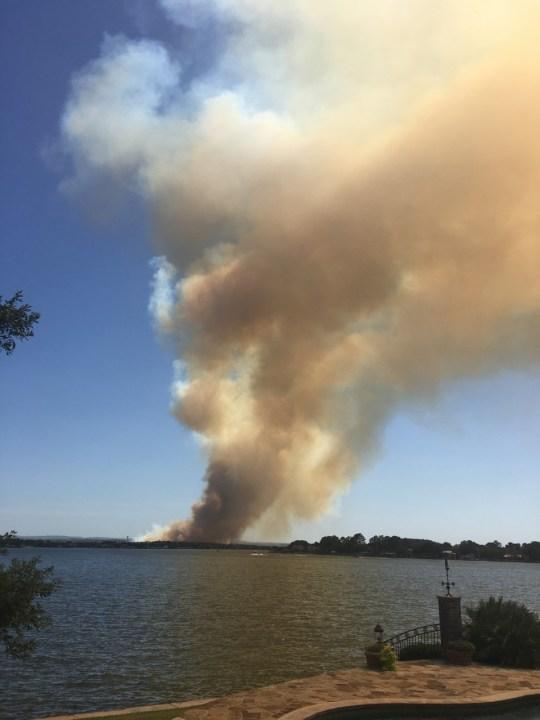Horseshoe Bay fire (Courtesy Gail Chenoweth)
