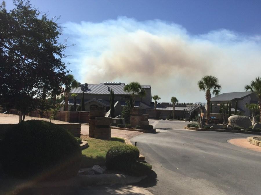 horseshoe bay brush fire