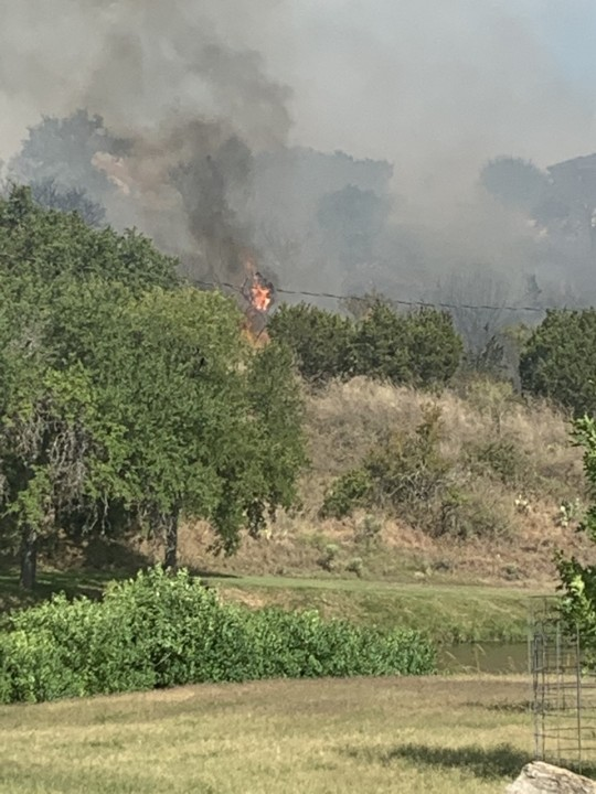 Horseshoe Bay fire (Courtesy Cody Levay)