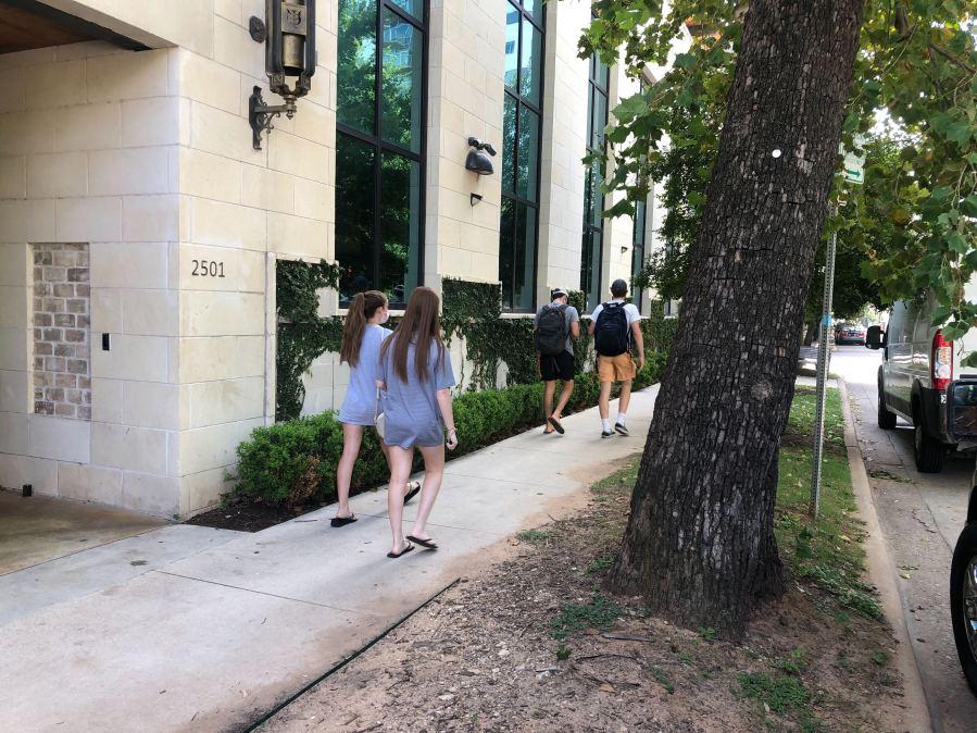Student COVID-19 testing at UT on Sept. 15 (Frank Martinez/KXAN)