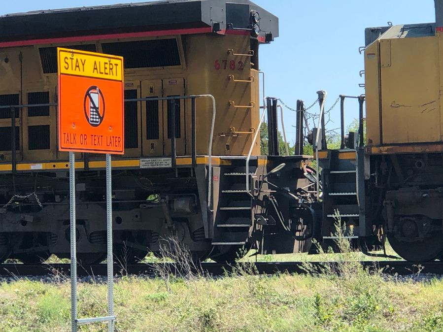 A man was hit by a train in Round Rock Sept. 7, 2020 (KXAN Photo/Frank Martinez)