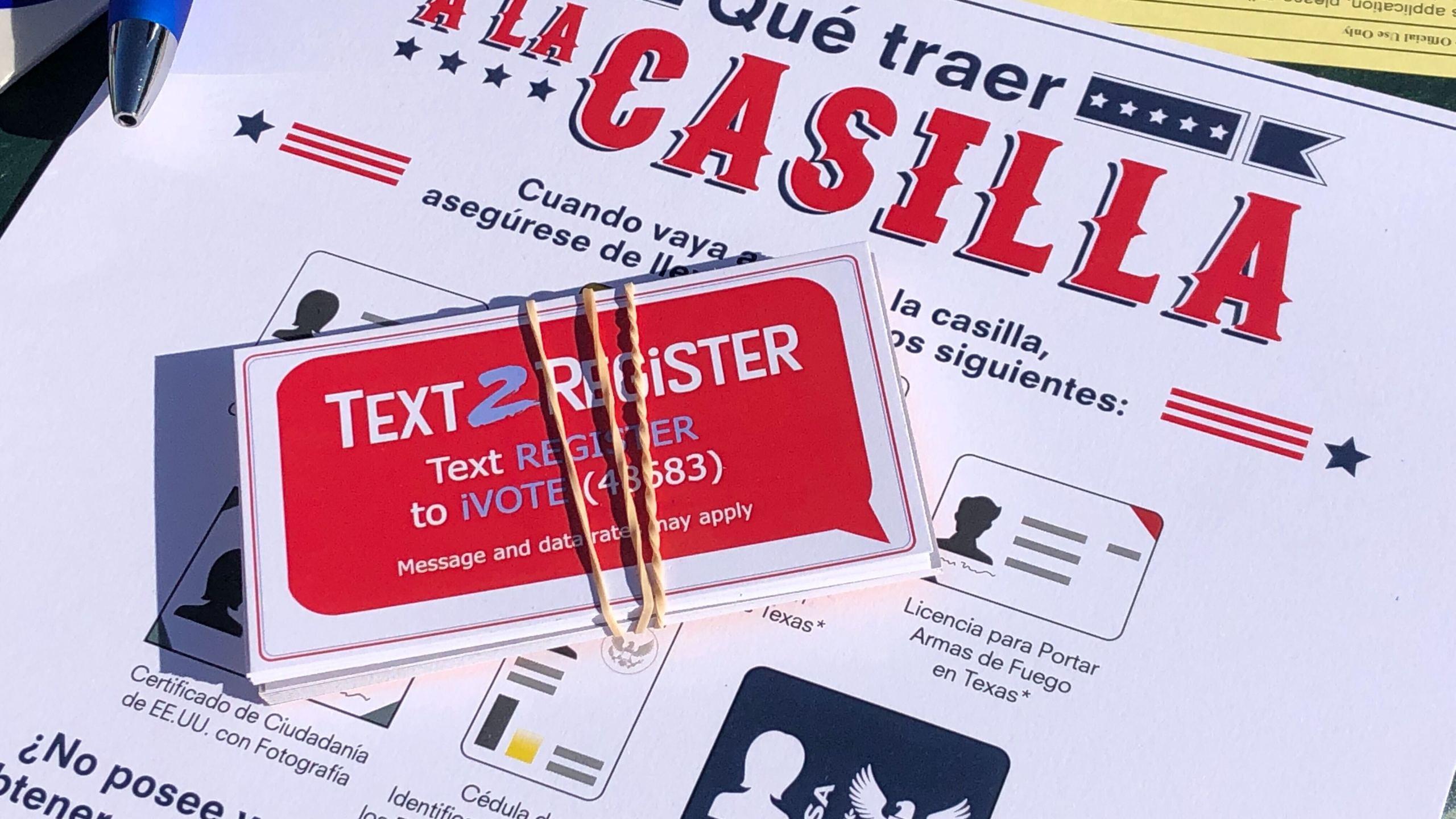 Drive-thru voter registration event in south Austin Sept. 29 (KXAN Photo/Frank Martinez)