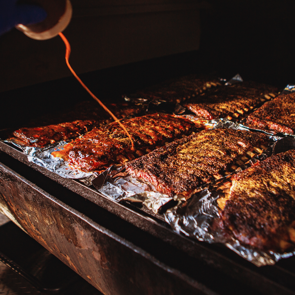 Photo of ribs at La Barbecue (KXAN Photo)