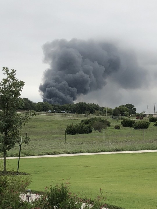 Williamson County chemical plant fire Sept. 10 (Courtesy of Sallia Bandy)