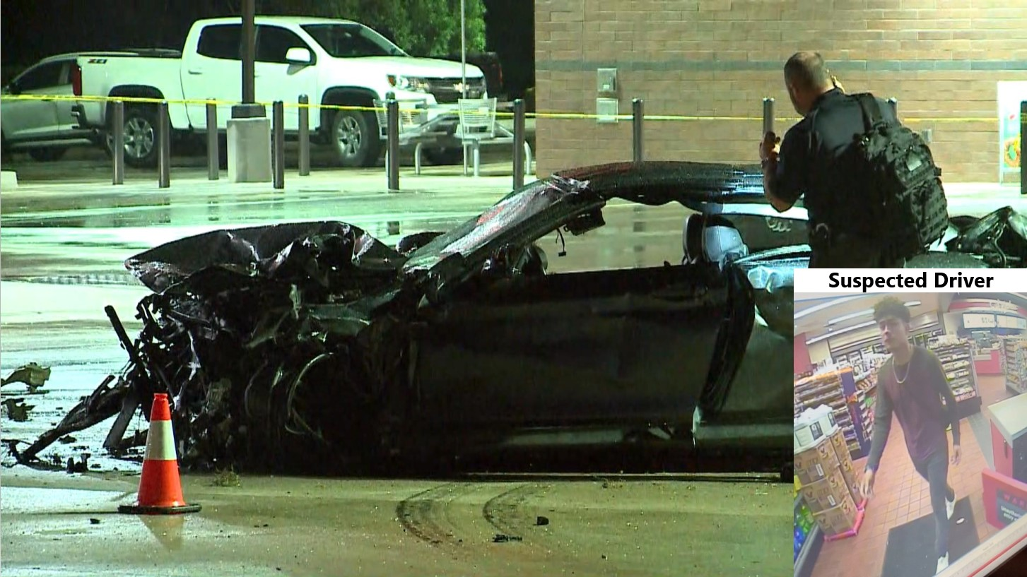 Suspected Leander hit and run driver and car