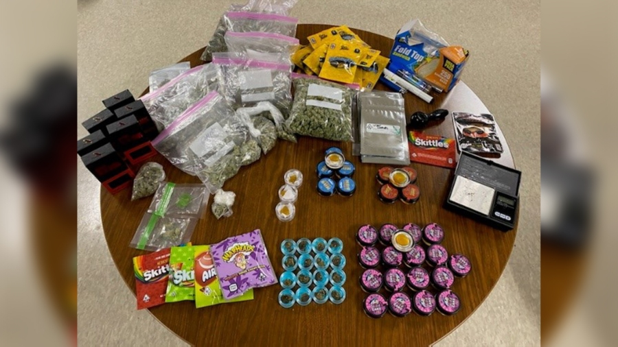 Marijuana, edibles seized during traffic stop in Hays County on Sept. 11 (Hays County Sheriff's Office Photo)