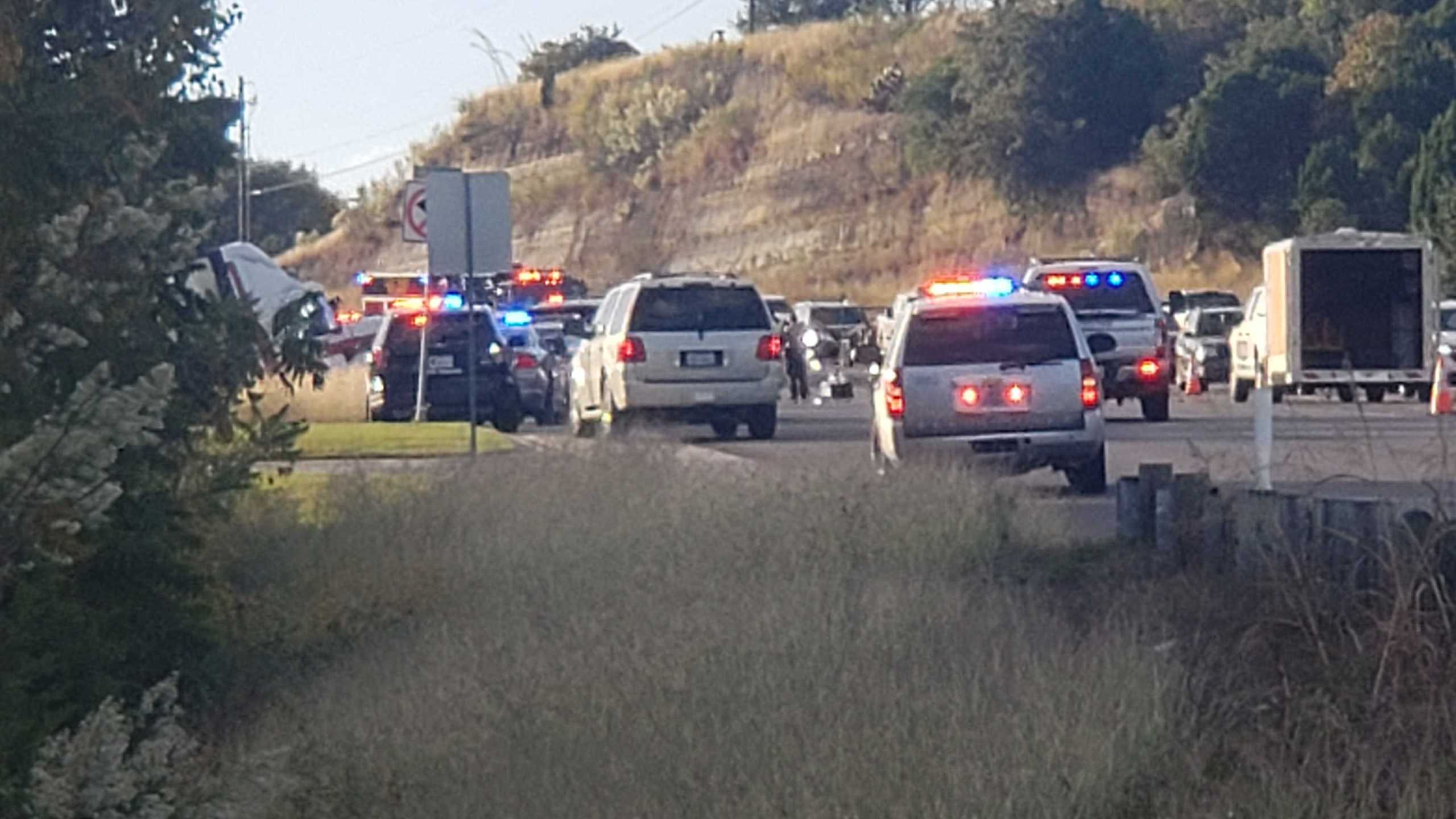 Someone was killed in a multiple-vehicle crash Oct. 21 on FM 620 Road, EMS says (KXAN/Andrew Choat)