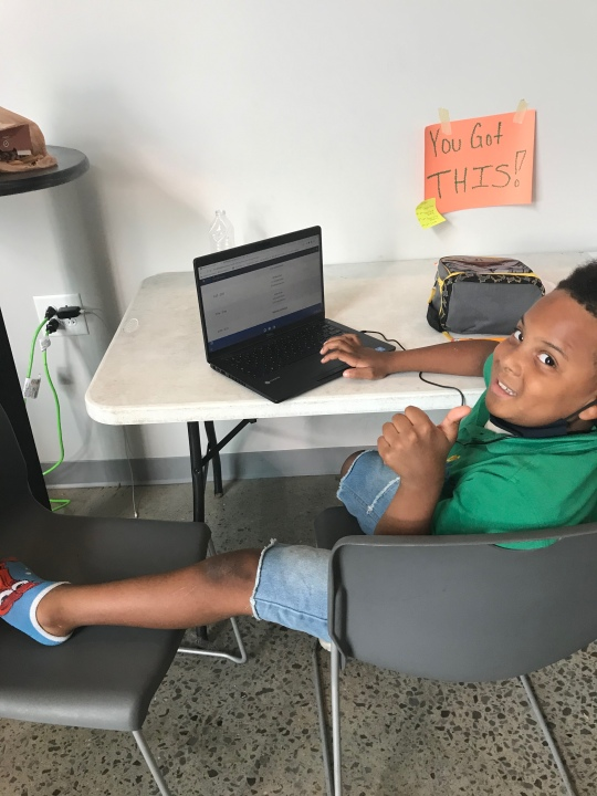 A student learns online at the West Nashville Dream Center (Courtesy West Nashville Dream Center)