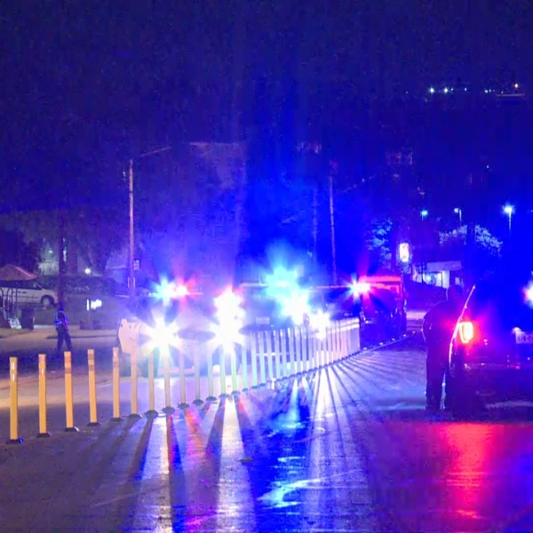 Person dead after being hit by car on Airport Boulevard in east Austin Oct. 19 (KXAN/Juan Salinas)
