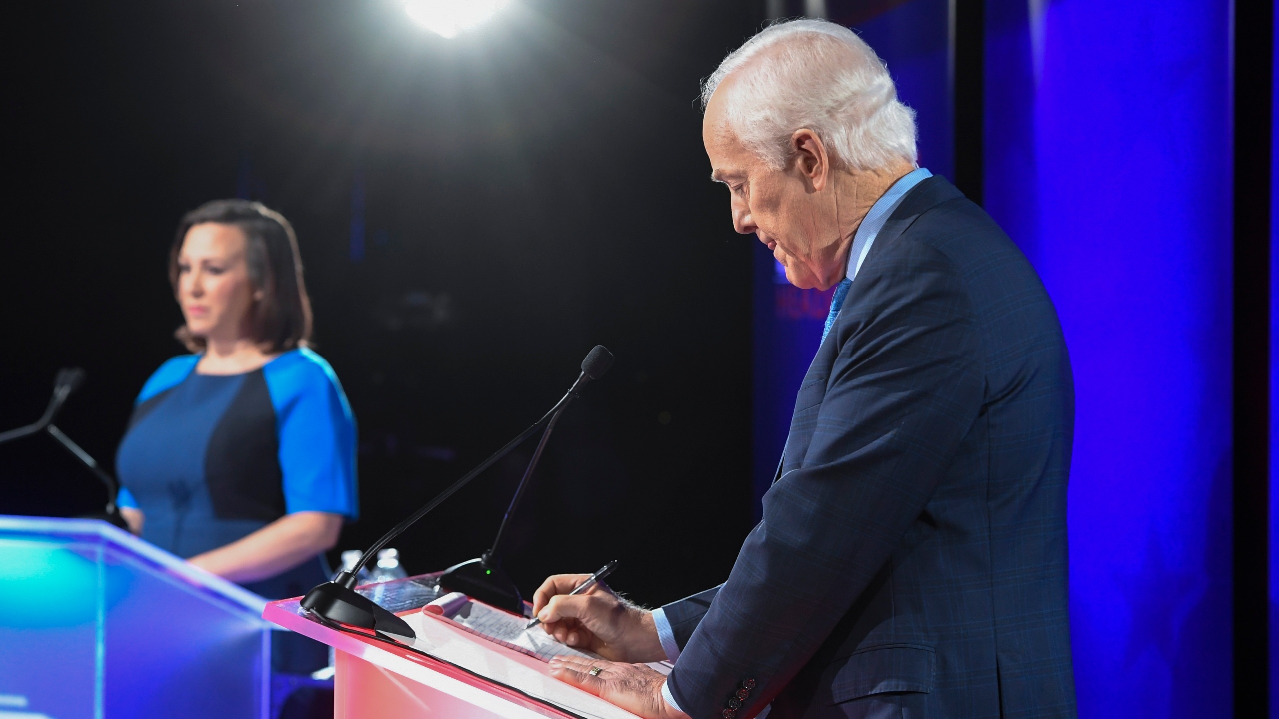 Texan MJ Hegar Debates John Cornyn For Senate