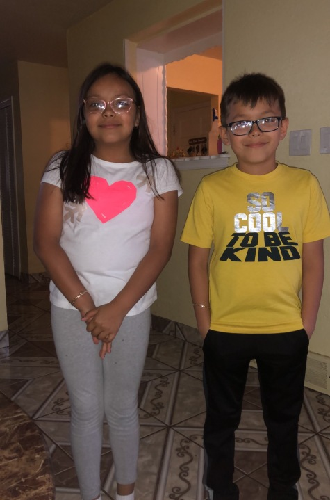 Twins Ruby and Alexander Luevano are fourth graders (Courtesy Luevano family)