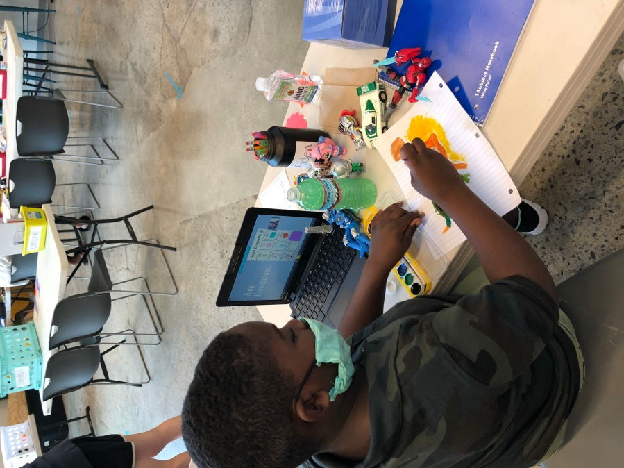 A student works on an art project at the West Nashville Dream Center (Courtesy West Nashville Dream Center)